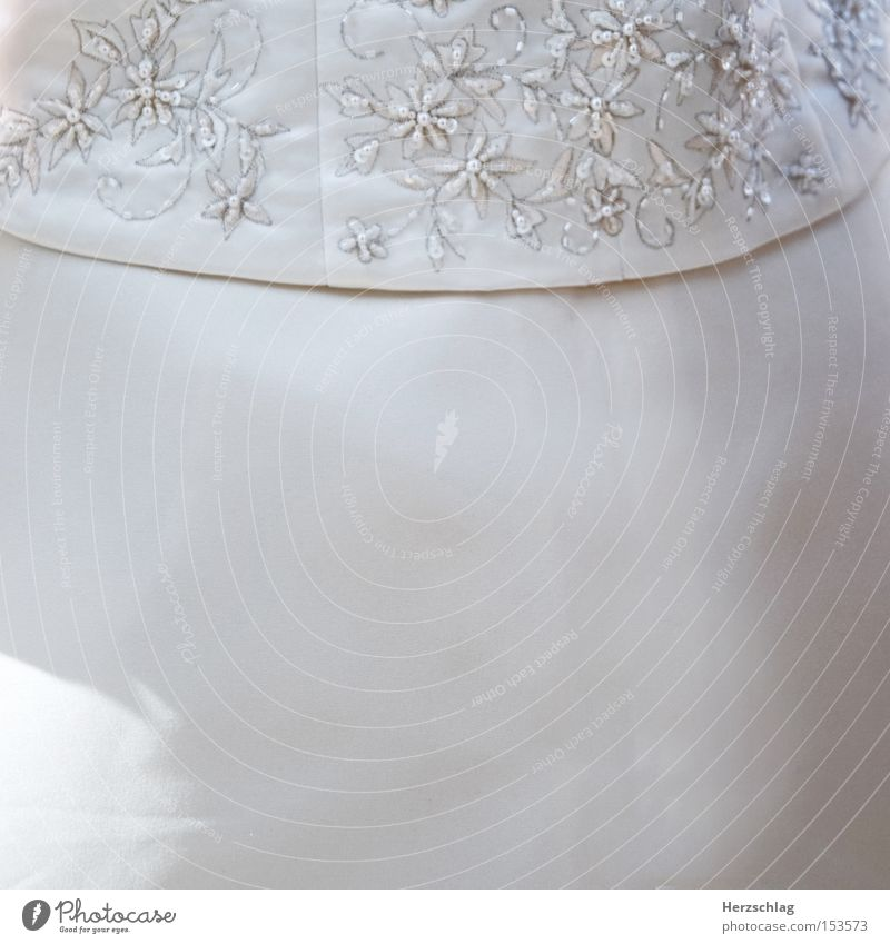 be a part of a Hochzeitskleid weiß Blume rund Kleid rein Sticken