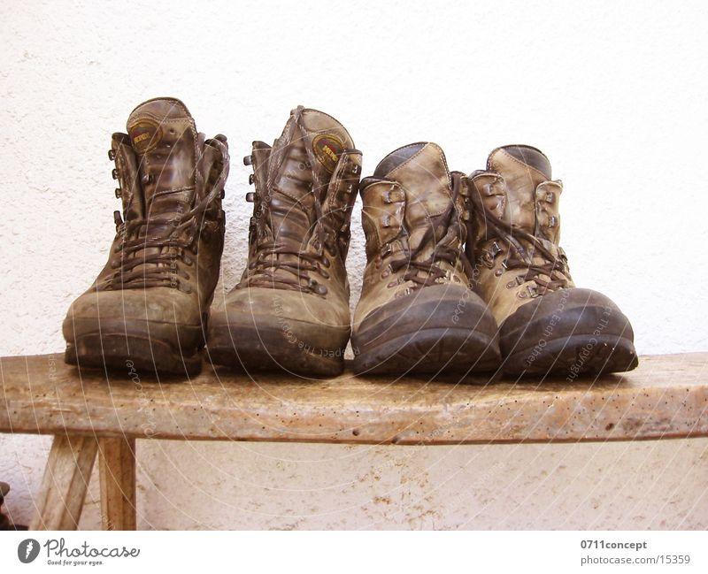 Michels Wanderschuhe wandern Schuhe unterwegs gehen Wandertag Bergsteigen Pause treten binden Gummi Leder Lederschuhe Freizeit & Hobby Ereignisse Bergführer