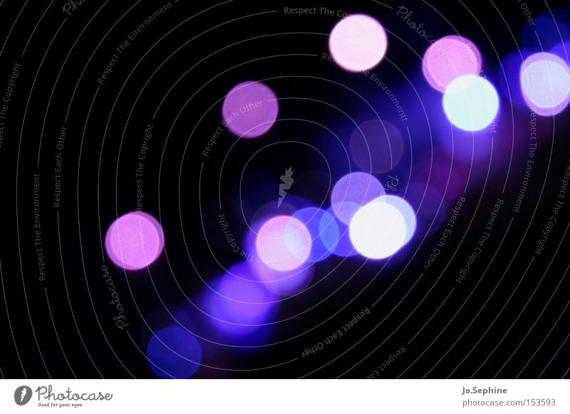 Sehschwäche in violett blau weiß Farbe rosa glänzend mehrere viele rund Symbole & Metaphern Punkt Phantasie Lichtspiel Nachtleben Lichtpunkt Lichtschein