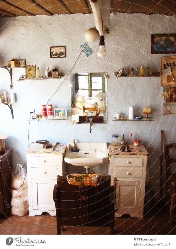 Schnittstelle alt Haare & Frisuren Stuhl historisch Ladengeschäft Friseur Symbole & Metaphern Griechenland geschnitten Rasieren
