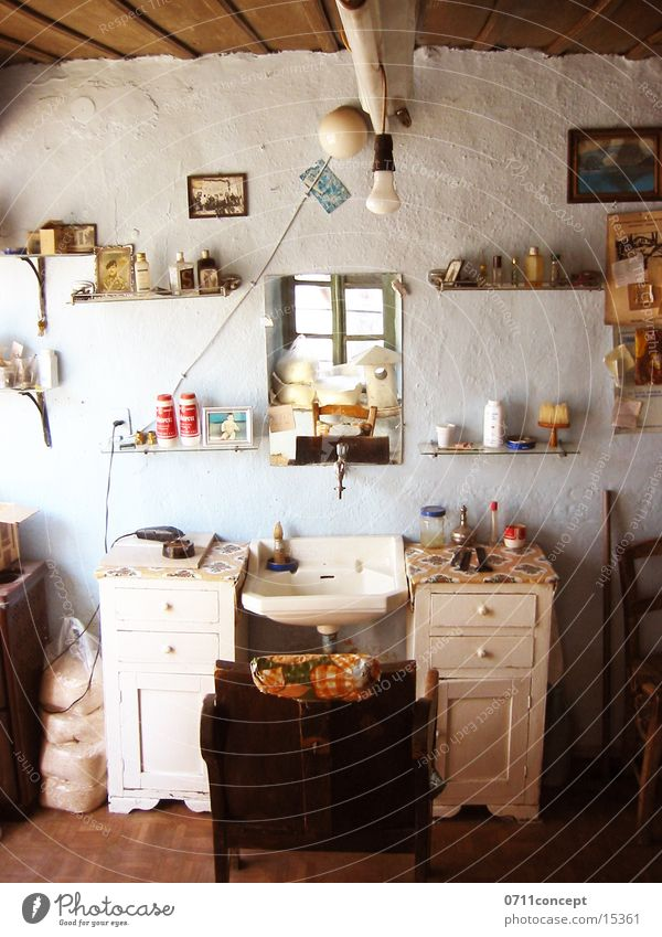 Schnittstelle alt Haare & Frisuren Stuhl historisch Ladengeschäft Friseur Symbole & Metaphern Griechenland geschnitten Rasieren r