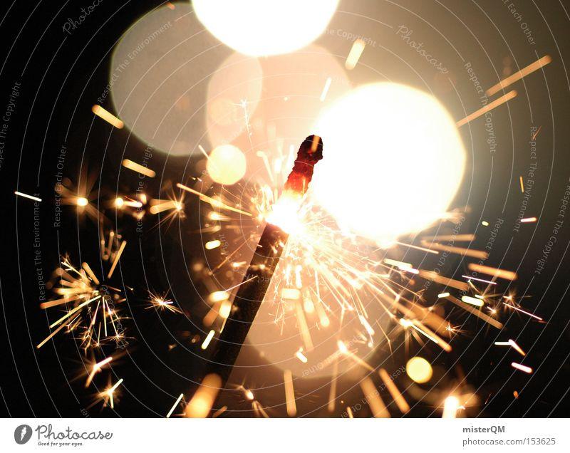 Silvesterparty - Funkenspiel. schön Freude Party Stimmung Aktion ästhetisch Dekoration & Verzierung Silvester u. Neujahr Momentaufnahme Feuerwerk Desaster