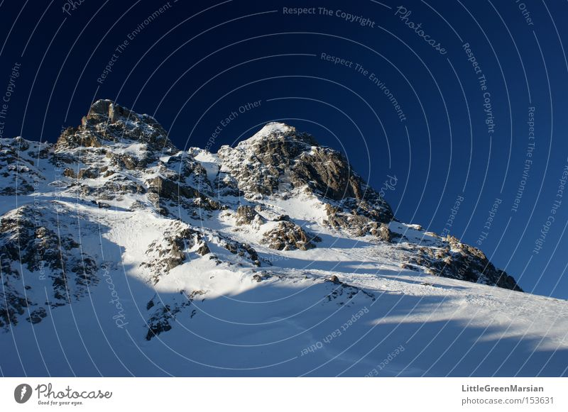 Casanna Gipfel Berge u. Gebirge Felsen Schnee Himmel Skigebiet Skipiste Berghang Davos Parsenn Winter Schweiz Gotschna Klosters