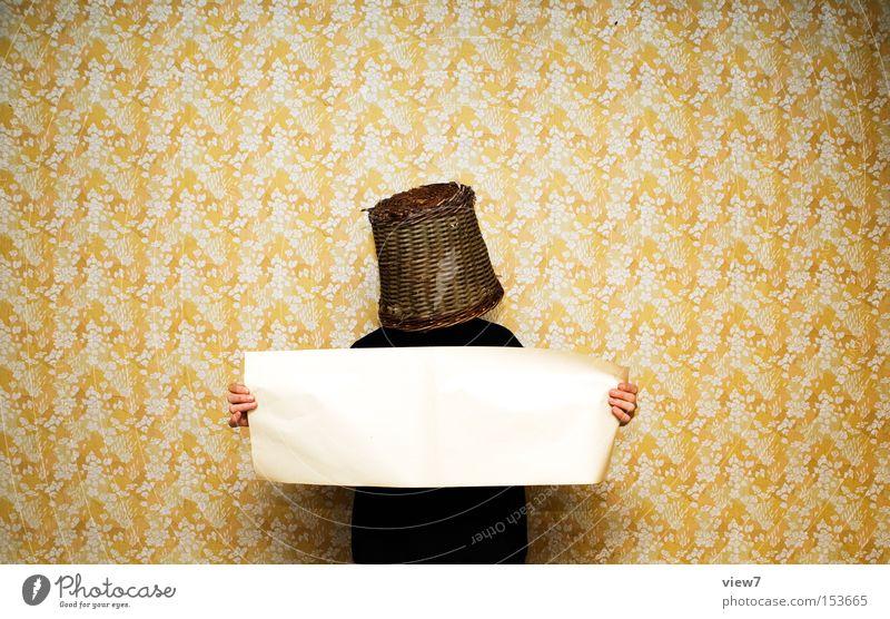 Präsentation Freude Tapete Bildung Lehrer Mann Erwachsene Papier festhalten schwarz Ordnung zeigen Korb unsichtbar unkenntlich Poster Sitzung Werbung Aktion