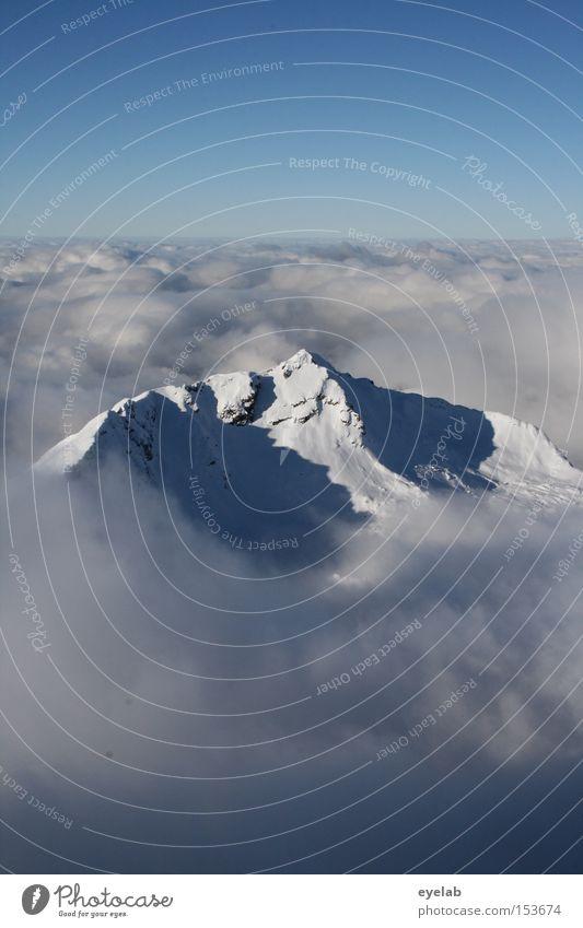 Schalensitz für Riesen Himmel blau Winter Wolken Ferne Schnee Berge u. Gebirge Landschaft Horizont Aussicht Alpen Gipfel Tal Allgäu Bayern