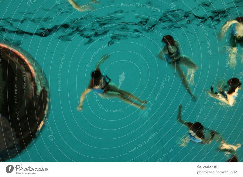 Famos schwerelos Freude Gesundheit Schwimmen & Baden Spielen Sport Schwimmbad Wasser Discokugel kalt blau Leichtigkeit türkis Aerobic Herz-/Kreislauf-System