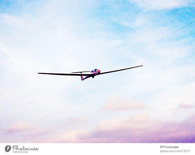 Landung Flugzeug Gleitflug Segelflugzeug Luftverkehr Himmel Flugzeuglandung Beginn