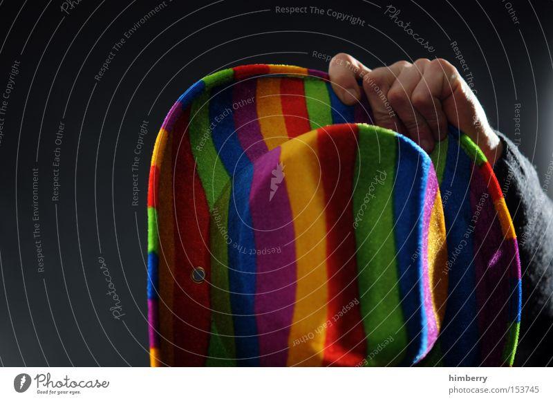 hut ab Hand Mode Bekleidung Maske Karneval Hut trendy Karnevalskostüm Hippie Cowboy Kostüm Schutz Kopfbedeckung regenbogenfarben Sichtschutz