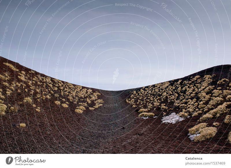 Weg dazwischen Fitness Sport-Training wandern Natur Landschaft Pflanze Urelemente Erde Schönes Wetter Dürre Moos Matten Dornenbusch Vulkan Etna Wüste entdecken