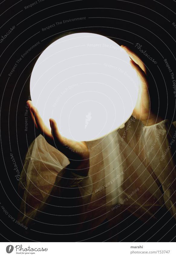 Strahlemann Mann Gesicht Lampe dunkel Beleuchtung Kugel Mond Himmelskörper & Weltall