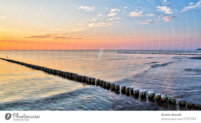 Buhnen Leben harmonisch Wohlgefühl Zufriedenheit Sinnesorgane Erholung ruhig Ferien & Urlaub & Reisen Sommerurlaub Strand Meer Insel Wellen Natur Landschaft