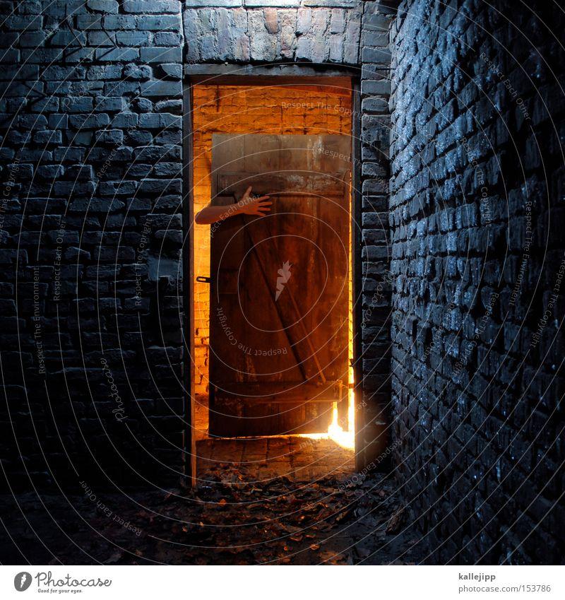 knusper, knusper, knäuschen Mensch kalt Holz Mauer Wärme Raum Arme Tür Armut gruselig Backstein Hütte Märchen Körperteile Unterkunft