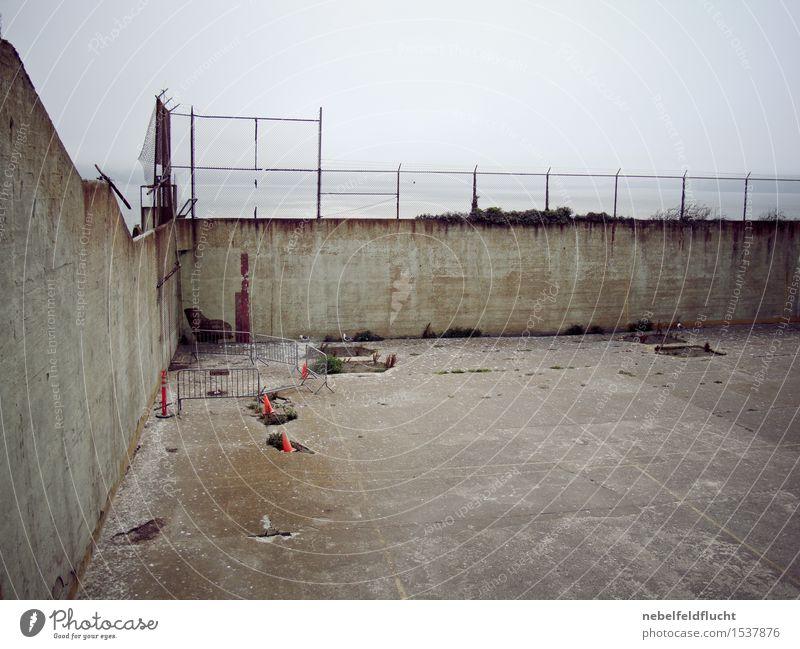Alcatraz San Francisco Hauptstadt Hafenstadt Menschenleer Mauer Wand Gefühle Stimmung Laster Akzeptanz Vertrauen Sicherheit Schutz Mitgefühl Güte