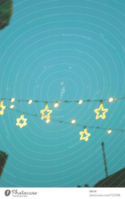 STERNEN TROCKENLEINE Lampe Feste & Feiern Himmel Glück Kreativität Hintergrundbild Stern (Symbol) Weihnachten & Advent Licht Lichterkette Weihnachtsmarkt