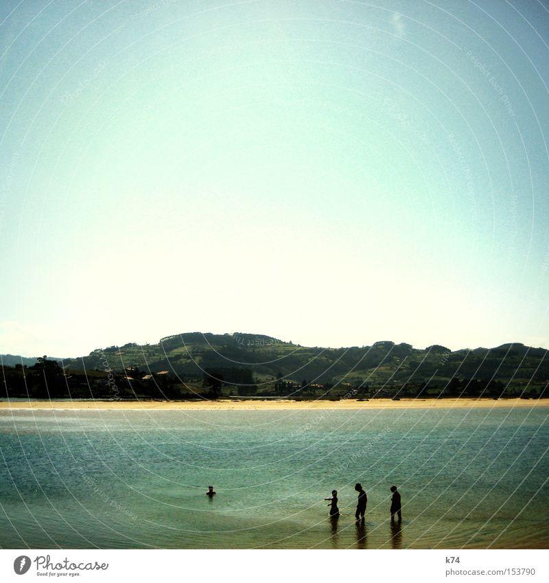 Lagune Meer See Schwimmen & Baden Sommer Strand Berge u. Gebirge ruhig Idylle Atlantik Küste Wasser Asturien