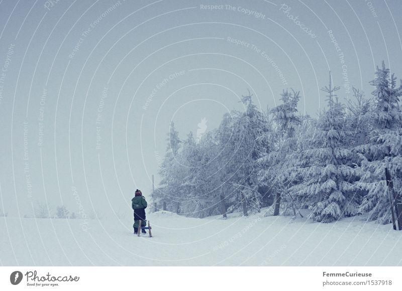 SnowDays_01 Mensch Kind Natur Ferien & Urlaub & Reisen Einsamkeit Mädchen Berge u. Gebirge kalt Schnee Junge Schneefall Eis Luft Kindheit Ausflug fantastisch