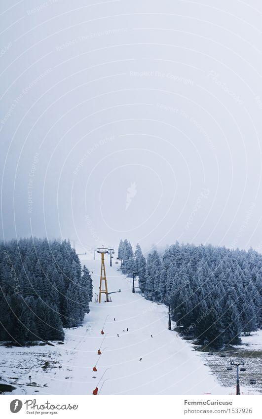 SnowDays_05 Lifestyle Freizeit & Hobby Abenteuer Abfahrt Risiko gefährlich Snowboarding Skifahren Skigebiet Gipfel Erzgebirge Fichtelberg Skifahrer Tourist