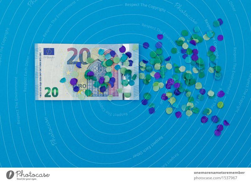Ich verdopple auf 20 Euro! Kunst Kunstwerk ästhetisch Europa Finanzkrise Eurozeichen Europäer Europatag Euroschein blau Geld Geldinstitut Geldscheine