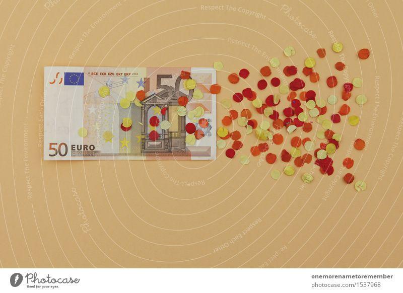 und noch mal 50 Euro drauf! Kunst Kunstwerk ästhetisch Finanzkrise Europa Europäer Eurozeichen Euroschein Verfall verfallen Konfetti Geldscheine Kapitalismus