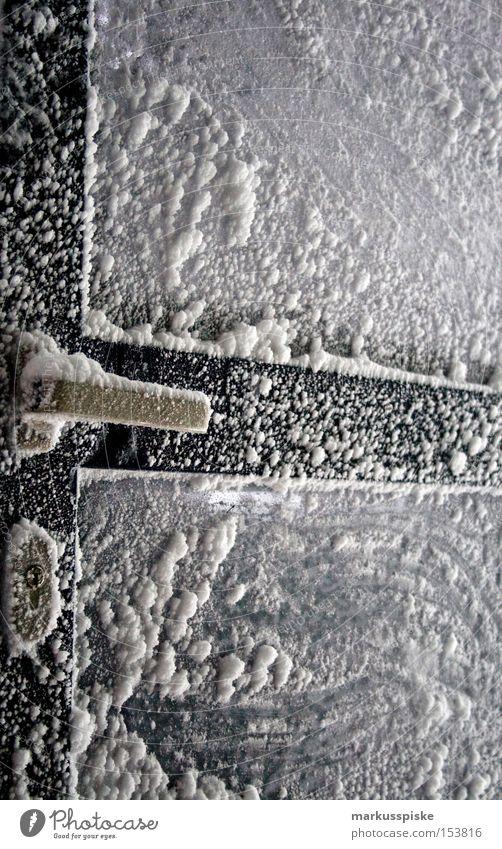 vereisung kalt Frost Berge u. Gebirge alpin Griff Winter Vergänglichkeit Eis Schnee Kristallstrukturen Tür Rahmen Glas Burg oder Schloss