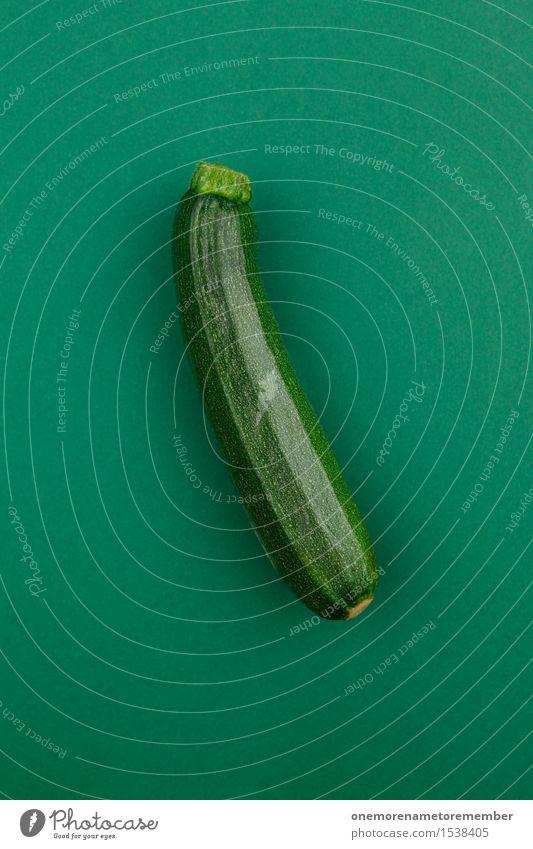 the natural one Kunst Kunstwerk ästhetisch grün Zucchini lecker Gesunde Ernährung Bioprodukte Vegetarische Ernährung ökologisch Gemüse Design gestalten knallig