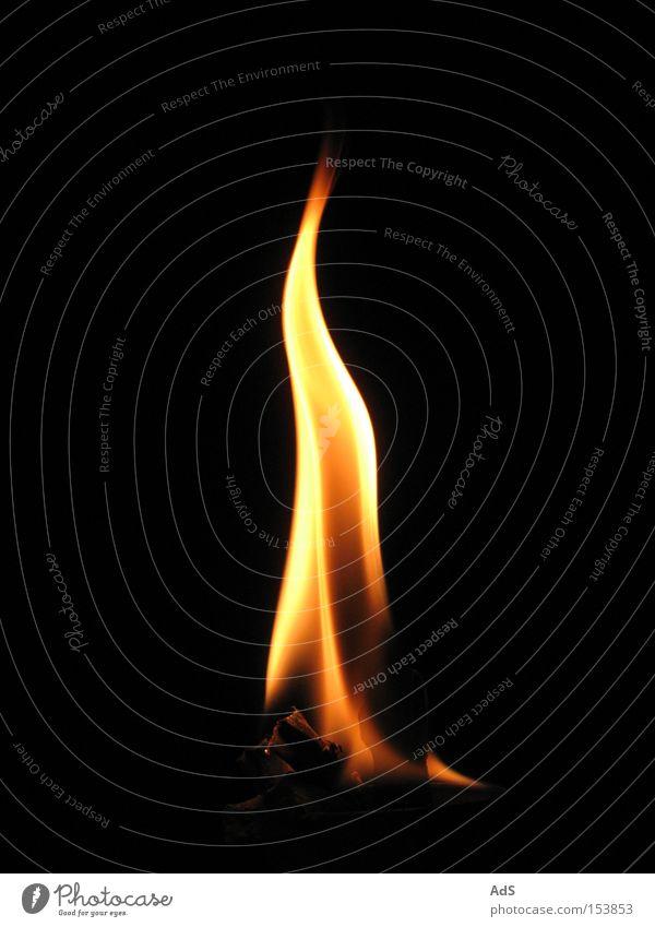 Flamme rot orange Brand Feuer heiß brennen Gesichtsausdruck