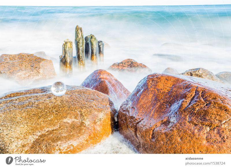 Ostsee Landschaft Wasser Strand Glück Zufriedenheit Lebensfreude achtsam Vorsicht Gelassenheit ruhig Sehnsucht Fernweh Einsamkeit Farbfoto mehrfarbig