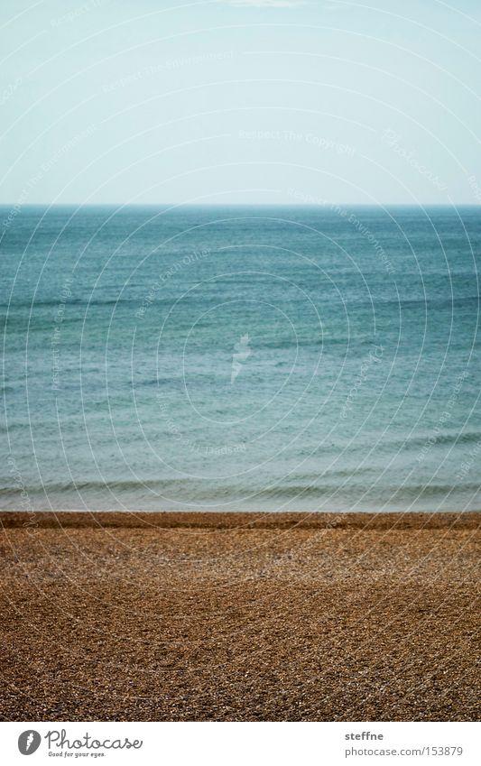 Nordsee Meer Strand Ferien & Urlaub & Reisen ruhig Erholung See Zufriedenheit Küste Ostsee Nordsee graphisch Urlaubsfoto Dreiteilung