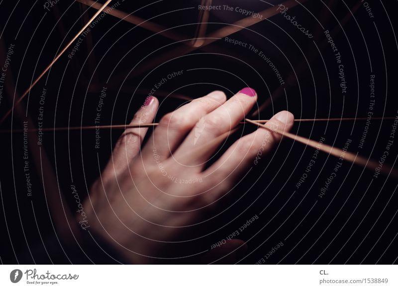 hand 2 Maniküre Nagellack Häusliches Leben Wohnung Lampe Mensch Erwachsene Hand Finger 1 außergewöhnlich dunkel einzigartig violett Sehnsucht Sinnesorgane