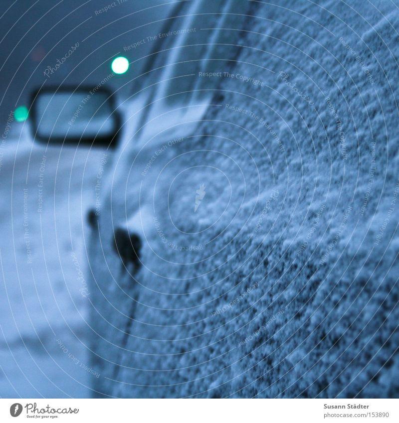 The Day after .... Winter Straße kalt Schnee PKW Eis hell KFZ Spiegel Rad frieren Ampel Lack kratzen Türschloss Winterdienst