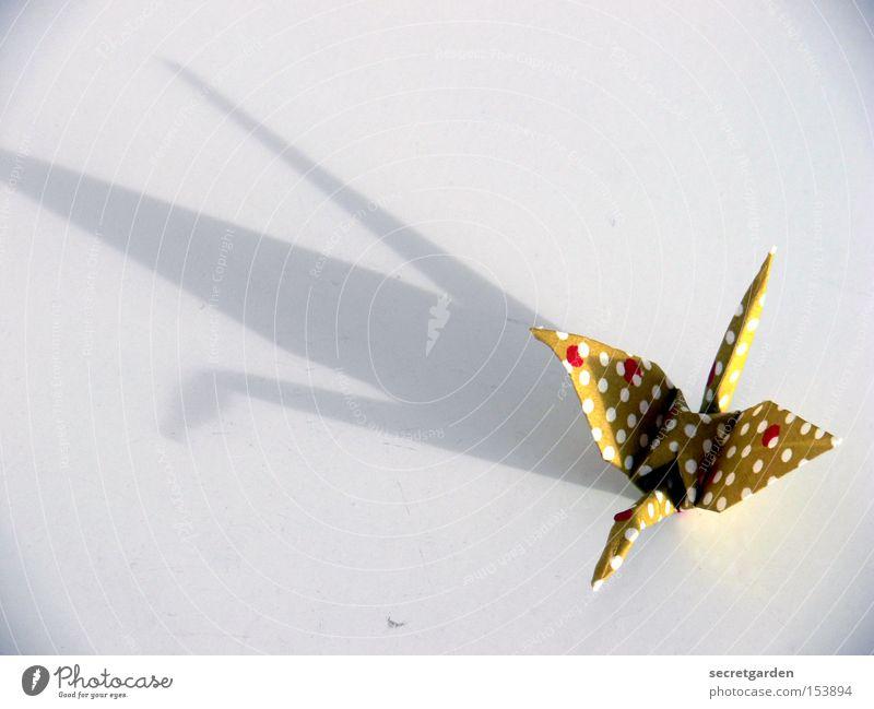 kranich mit wievielen weissen punkten? weiß Tier Einsamkeit Vogel Kunst hell fliegen Freizeit & Hobby Papier Kitsch Asien Handwerk Japan dramatisch