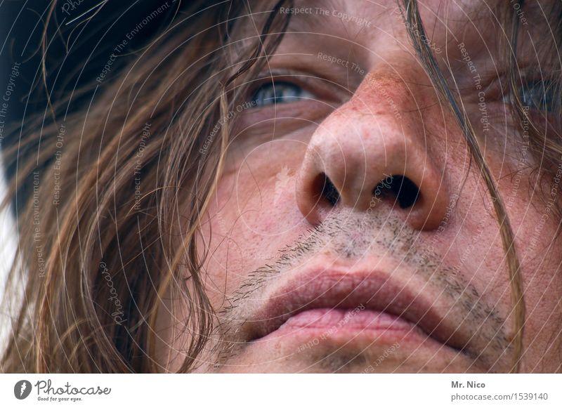 selbstportrait | ich bin´s nuhr ruhig Gesicht Erwachsene Auge Gefühle natürlich Haare & Frisuren Kopf maskulin wild nachdenklich authentisch Haut Mund beobachten Nase
