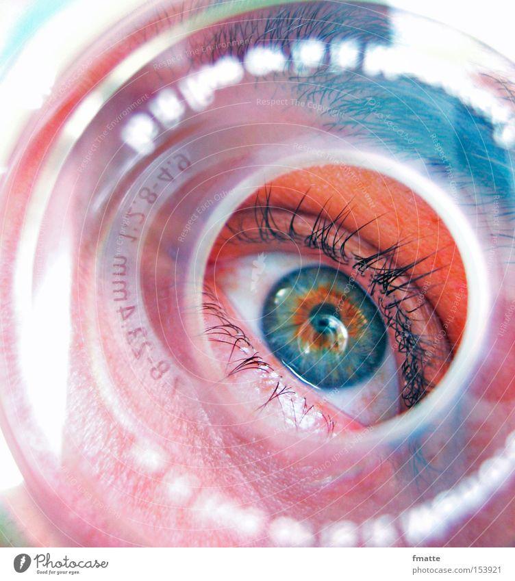 auge blau Auge Konzentration Wimpern Durchblick Compact Disc Pupille