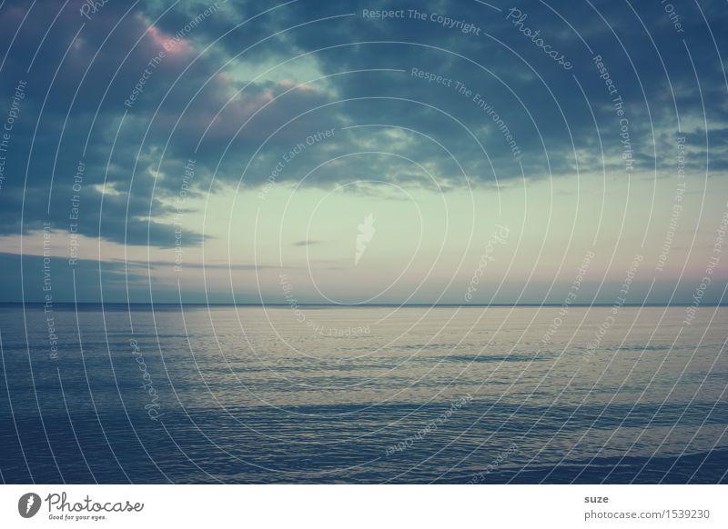 Prima Klima | bis zum Horizont Himmel Himmel (Jenseits) blau Wasser Landschaft Meer Einsamkeit Wolken Umwelt kalt Gefühle Hintergrundbild Stimmung Horizont träumen Wetter
