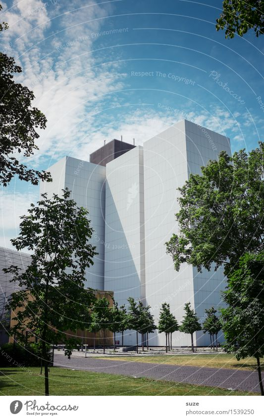 Moderne Himmel Natur Stadt Baum Umwelt Architektur Gebäude Fassade Design Arbeit & Erwerbstätigkeit Büro modern Hochhaus ästhetisch hoch Zukunft