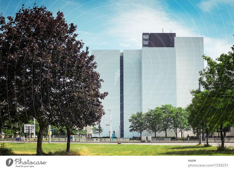 Stadtarchivbild Design Bildung lernen Studium Arbeit & Erwerbstätigkeit Arbeitsplatz Büro Wirtschaft Bibliothek Umwelt Natur Baum Wiese Hochhaus Bauwerk Gebäude