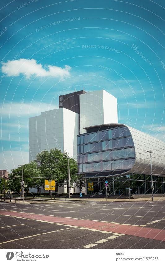 Fachwissen Natur Stadt Umwelt Straße Architektur Gebäude Fassade Design Arbeit & Erwerbstätigkeit Stadtleben Büro modern Hochhaus ästhetisch hoch Platz