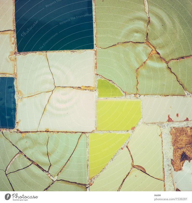 Zammgebrochen | wie Neu alt grün Architektur Wand Innenarchitektur Hintergrundbild Stil Kunst Stein Design Dekoration & Verzierung Ordnung ästhetisch
