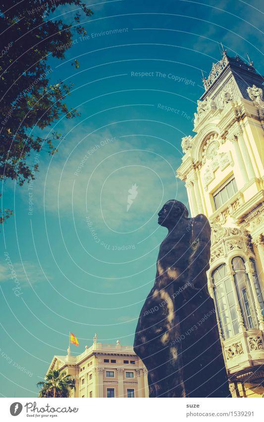 Steinalter Spanier Mensch Ferien & Urlaub & Reisen Stadt Reisefotografie Architektur Gebäude Kunst Tourismus Metall Europa historisch Spanien Wahrzeichen