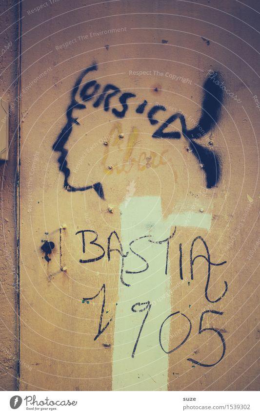 Krieger Mensch Leben Wand Graffiti Mauer Kunst außergewöhnlich Freiheit Kopf Kultur Jugendkultur historisch Grafik u. Illustration Vergangenheit Frankreich