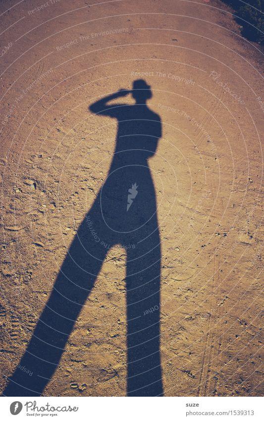 Selbstporträt | Moonwalk Lifestyle elegant Mensch Jugendliche Erwachsene Körper 1 Erde Sand Wege & Pfade Mode Accessoire Hut Coolness Fröhlichkeit groß trendy