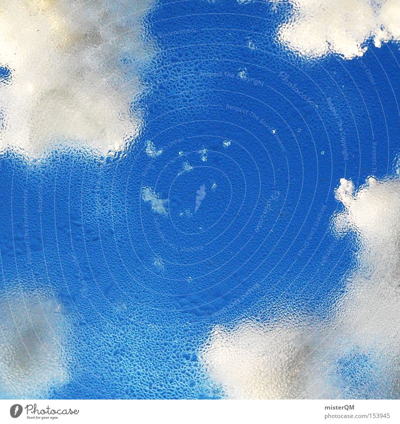 Himmelreich. Wasser schön Wolken Winter kalt Schnee Fenster Eis nass Wassertropfen Tropfen Vertrauen Aussicht Schönes Wetter Wintertag