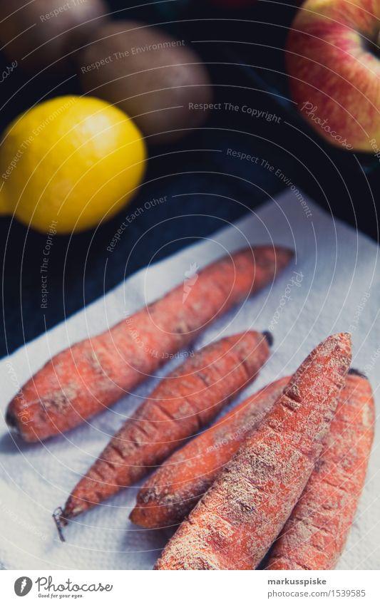 alte bio karotten Lebensmittel Möhre Zitrone Apfel Ernährung Essen Frühstück Mittagessen Abendessen Büffet Brunch Picknick Bioprodukte Vegetarische Ernährung