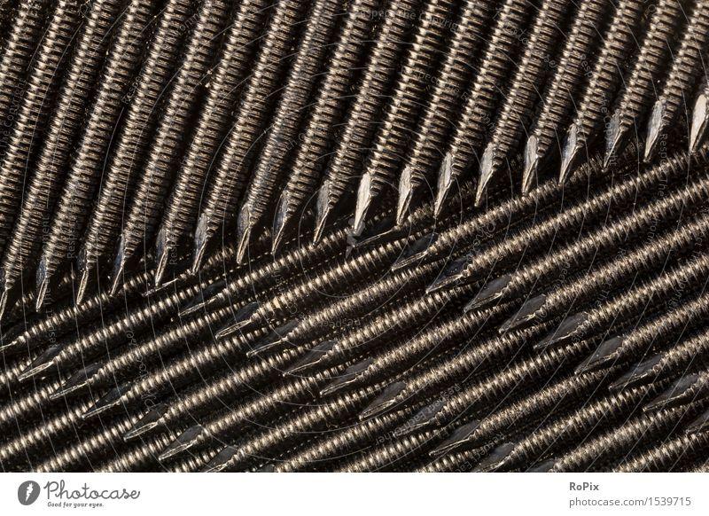 nails Arbeit & Erwerbstätigkeit Beruf Handwerker Arbeitsplatz Wirtschaft Industrie Baustelle Werkzeug Maschine Technik & Technologie Nagel Spitze pin Riffelung