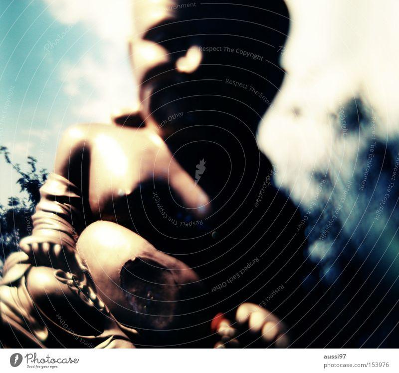 Mein Blick verwaschen Unschärfe verraucht Rausch Asien Wellness Rauschmittel Buddha Kraft
