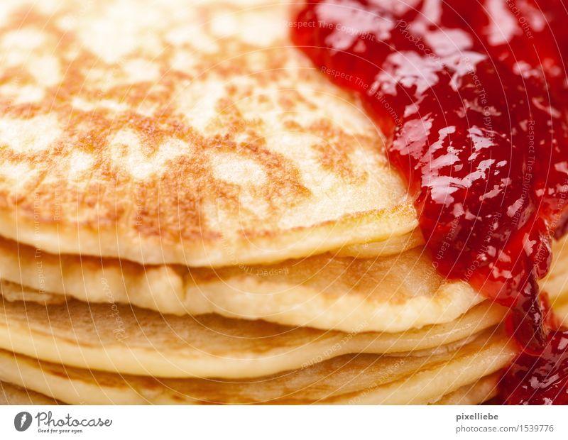Pfannkuchen-Hochstapler Essen Lebensmittel Frucht gold Ernährung Kochen & Garen & Backen süß Küche lecker Gastronomie Süßwaren Übergewicht Restaurant Frühstück