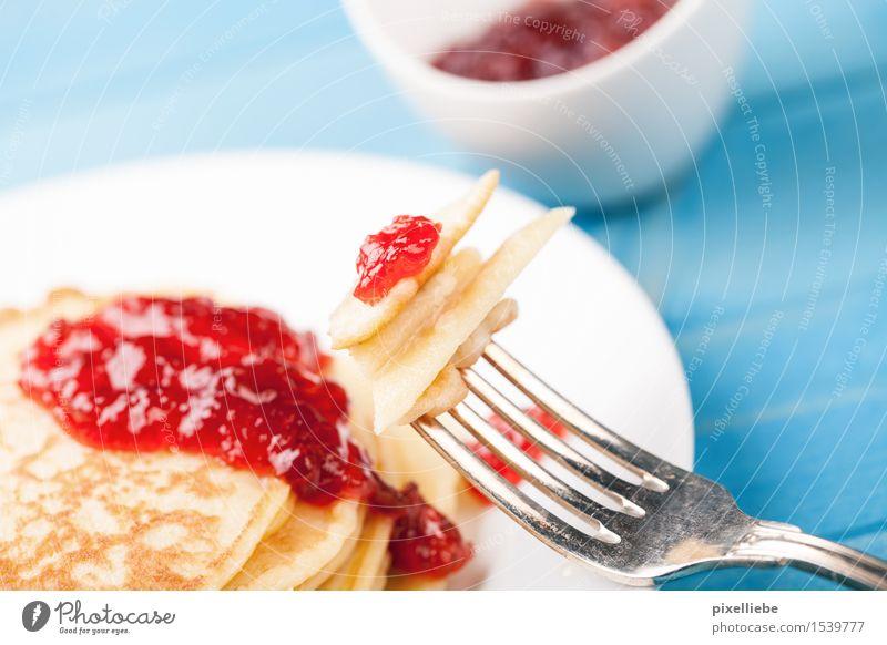 Süßes Frühstück Lebensmittel Frucht Teigwaren Backwaren Dessert Süßwaren Marmelade Ernährung Vegetarische Ernährung Diät Teller Schalen & Schüsseln Besteck