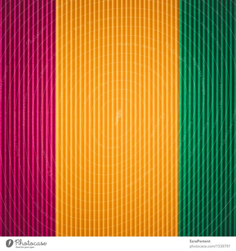 Riffelfarben Linie Streifen gelb grün violett Design Farbe Werbung Hintergrundbild Strukturen & Formen mehrfarbig Farbfoto Innenaufnahme abstrakt Muster