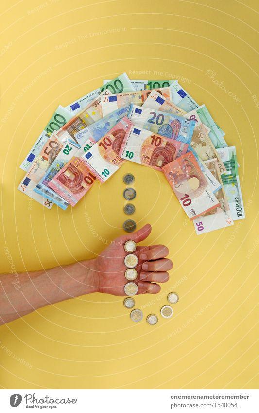 Euro-Rettungsschirm sonnig Kunst ästhetisch Europa Geld Schutz festhalten Symbole & Metaphern Geldinstitut Regenschirm Europäer Schirm Geldscheine Erste Hilfe