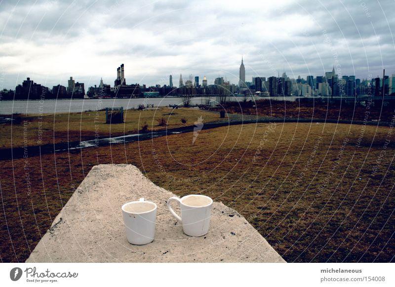 Park groß Dach New York City Manhattan East River